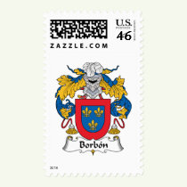 Borbon Family Crest Stamps