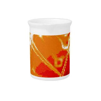 bordado abstracto jarra de beber