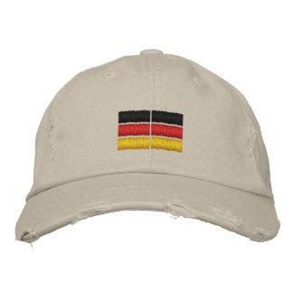 Bordado alemán de la bandera gorra bordada