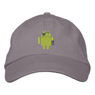 Bordado androide del pirata del robot gorra de béisbol bordada