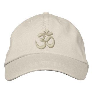 Bordado beige de Chakra de la yoga de OM o del per Gorras Bordadas