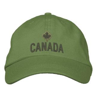 Bordado canadiense Canadá de la hoja de arce Gorra Bordada