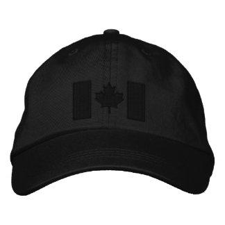 Bordado canadiense de la bandera gorra de beisbol bordada