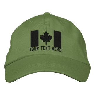 Bordado canadiense grande personalizado de la band gorra de béisbol