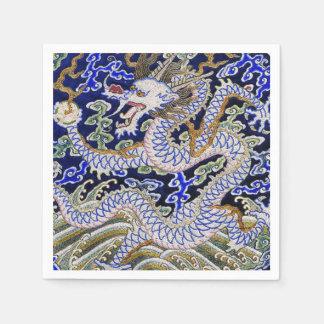 Bordado chino del dragón servilleta de papel