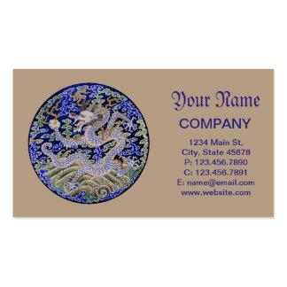 Bordado chino del dragón tarjetas de visita