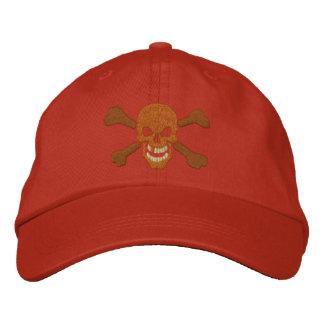 Bordado clásico del cráneo de la bandera pirata gorras bordadas