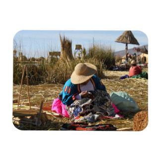 Bordado de costura de la mujer de Perú Iman Flexible