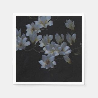 Bordado de flores elegante servilleta de papel