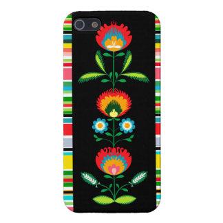 Bordado de flores polaco, caso del iPhone iPhone 5 Cobertura