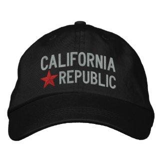 Bordado de la ESTRELLA de la república de Californ Gorro Bordado