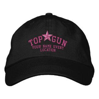 Bordado de la estrella de Personalizable Top Gun Gorra De Béisbol