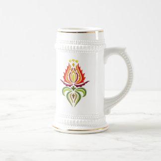 Bordado de lujo de la capa - arte popular húngaro jarra de cerveza
