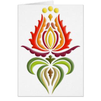 Bordado de lujo de la capa - arte popular húngaro tarjetas