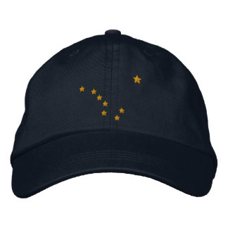 Bordado del diseño de la bandera del estado de gorros bordados