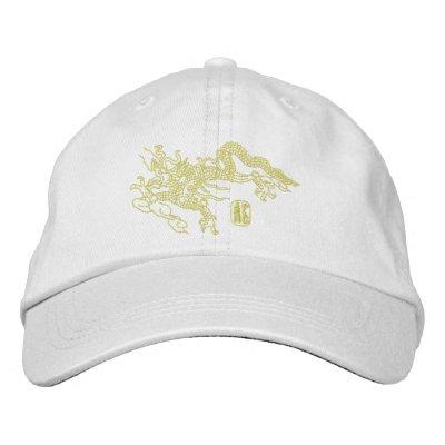 Bordado del dragón gorra de béisbol bordada