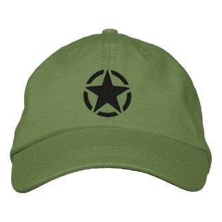 Bordado del estilo de la etiqueta del jeep del gorras bordadas