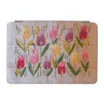 Bordado del vintage de los tulipanes cover de iPad mini