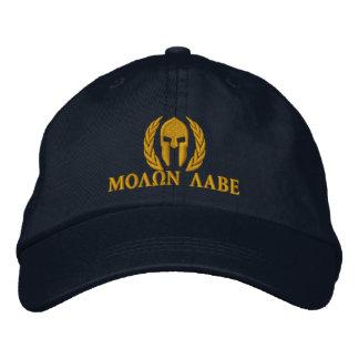Bordado espartano de los laureles del casco de gorra bordada