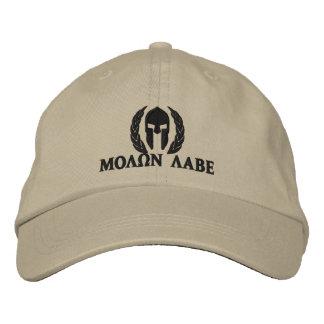 Bordado espartano de los laureles del casco de gorra de béisbol