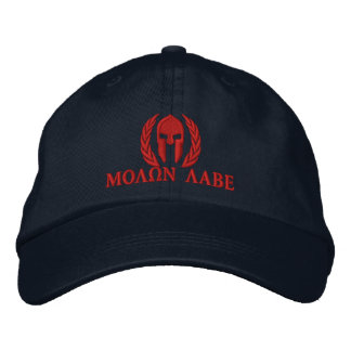 Bordado espartano de los laureles del casco de gorra de beisbol