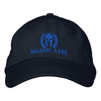 Bordado espartano de los laureles del casco de Mol Gorras Bordadas