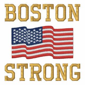 Bordado fuerte de la bandera americana de Boston Chaqueta