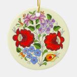 Bordado húngaro de la flor del OPUS Adornos De Navidad