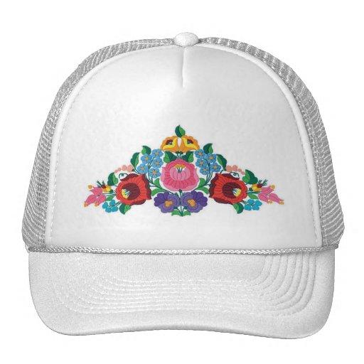 Bordado húngaro de la flor del OPUS Gorras