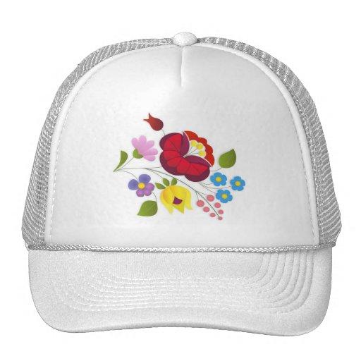 Bordado húngaro de la flor del OPUS Gorro