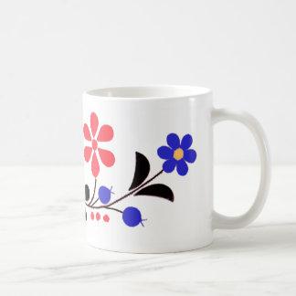 Bordado húngaro de la flor del OPUS Tazas De Café