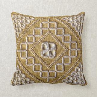 Bordado IMPRESO blanco en el personalizado de lino Cojin
