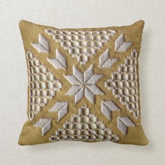Bordado IMPRESO blanco en el personalizado de lino Cojín