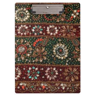 Bordado indio Bling de la materia textil de la