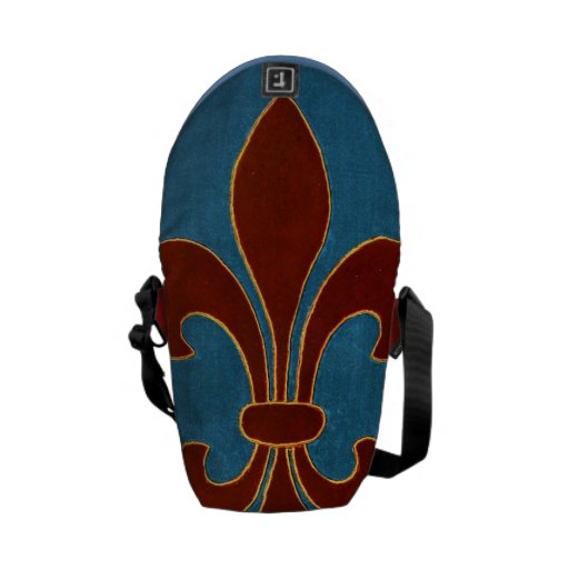 Bordado medieval bolsa messenger