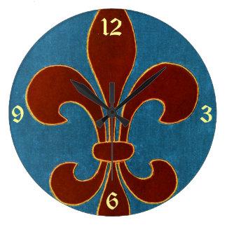 Bordado medieval reloj redondo grande