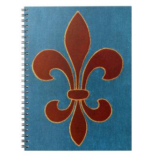 Bordado medieval spiral notebook