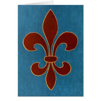 Bordado medieval tarjeta de felicitación