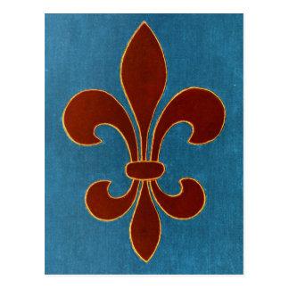 Bordado medieval tarjetas postales