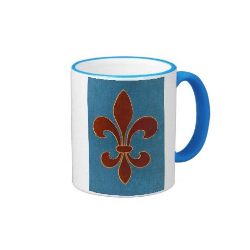 Bordado medieval taza de dos colores