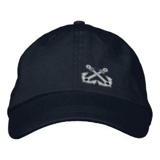 Bordado náutico cruzado de la estrella de las gorras de beisbol bordadas