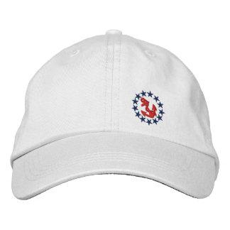 Bordado náutico del yate de la bandera americana gorras de beisbol bordadas