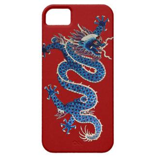 Bordado oriental azul del chino de la antigüedad funda para iPhone SE/5/5s