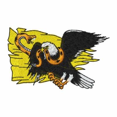Bordado patriótico camiseta polo bordada