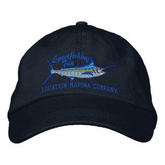 Bordado personalizado de la aguja azul de la pesca gorra de béisbol bordada