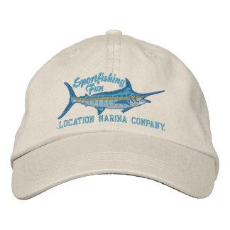 Bordado personalizado de la aguja azul de la pesca gorro bordado