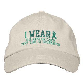 Bordado personalizado de la conciencia de la cinta gorra de beisbol
