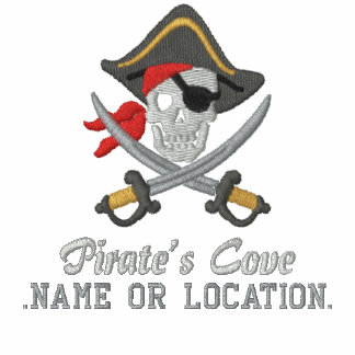 Bordado personalizado del fiesta del pirata camiseta polo