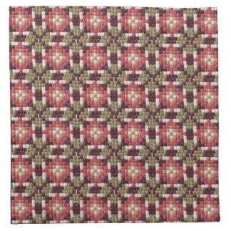 Bordado retro servilleta imprimida