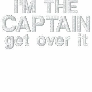 Bordado - soy el capitán Consiga sobre él - diver Sudadera Encapuchada